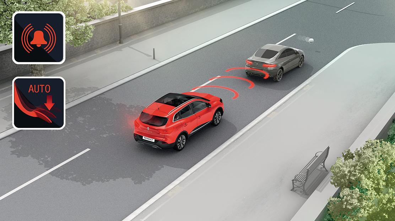 Alerte de distance de sécurité avec freinage actif d'urgence (AEBS)