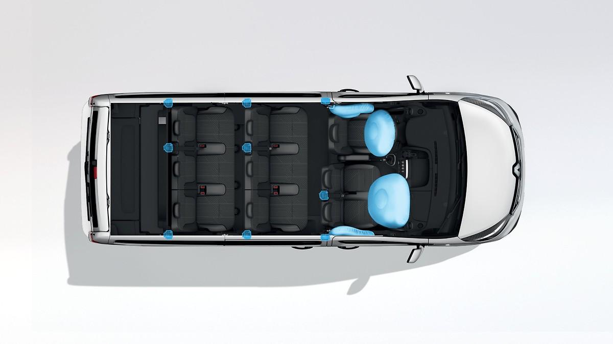 Передні бічні airbag і шторки, фронтальна airbag пасажира, сидіння водія підвищен комфорту з підлок