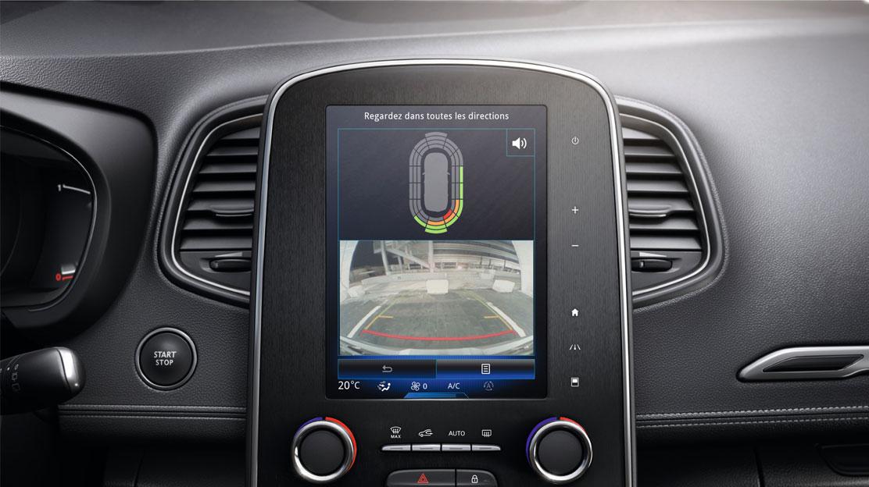 Sensor de aparcamiento delantero y trasero con cámara