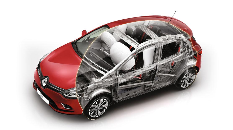 Čelní airbag na straně řidiče a spolujezdce, boční airbagy chránící hlavu a hrudník vpředu