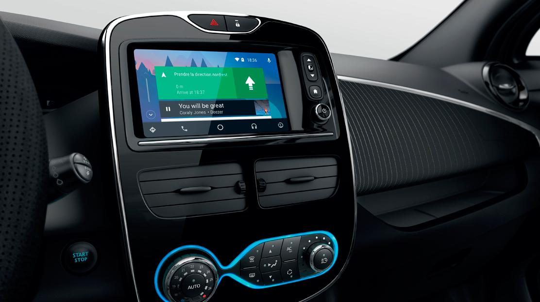 Compatible con Android Auto™ para usar las aplicaciones de tu smartphone de una manera segura