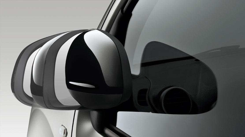 Retrovisores exteriores na cor da carroçaria rebatíveis electricamente