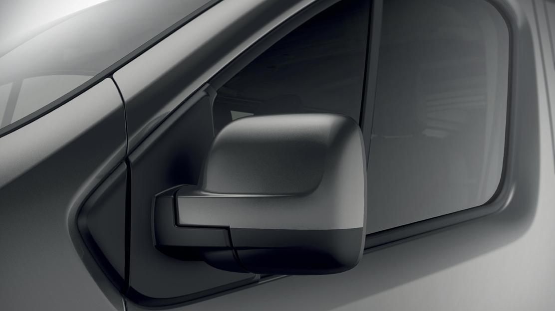 Electrically adjustable door mirrors with temperature sensor
