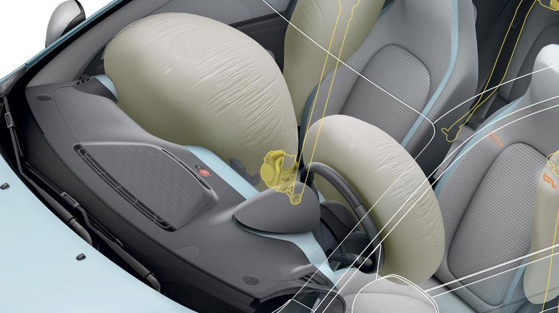 Adaptieve airbag voor bestuurder