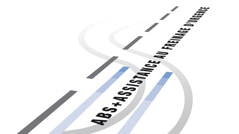 ABS s elektronickým rozdělovačem brzdné síly a asistenčním systémem brzd