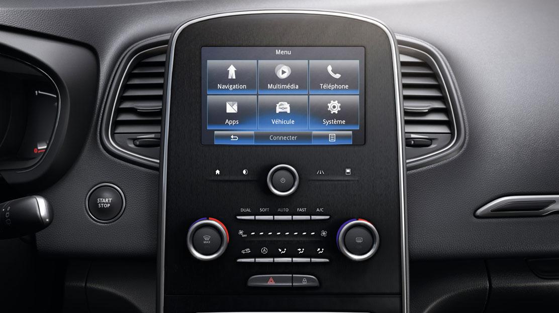 Renault R-LINK 2: integriertes Infotainmentsystem mit 7-Zoll-Touchscreen