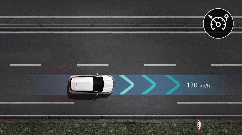 Tempomat mit Geschwindigkeitsbegrenzung