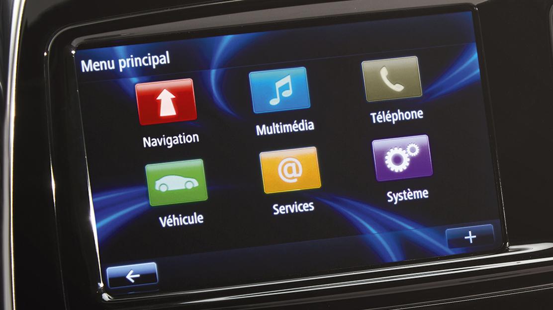 """Renault R-Link avec écran couleur tactile 7"""""""