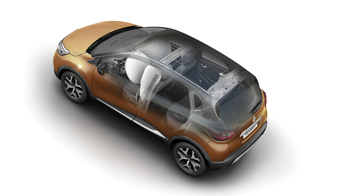 Front head/chest lateral airbags