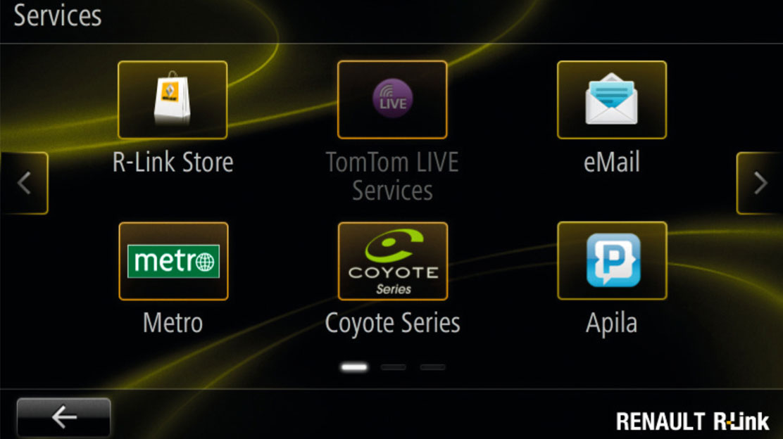 "Sistem multimedia si navigatie R-Link cu ecran tactil de 7"""