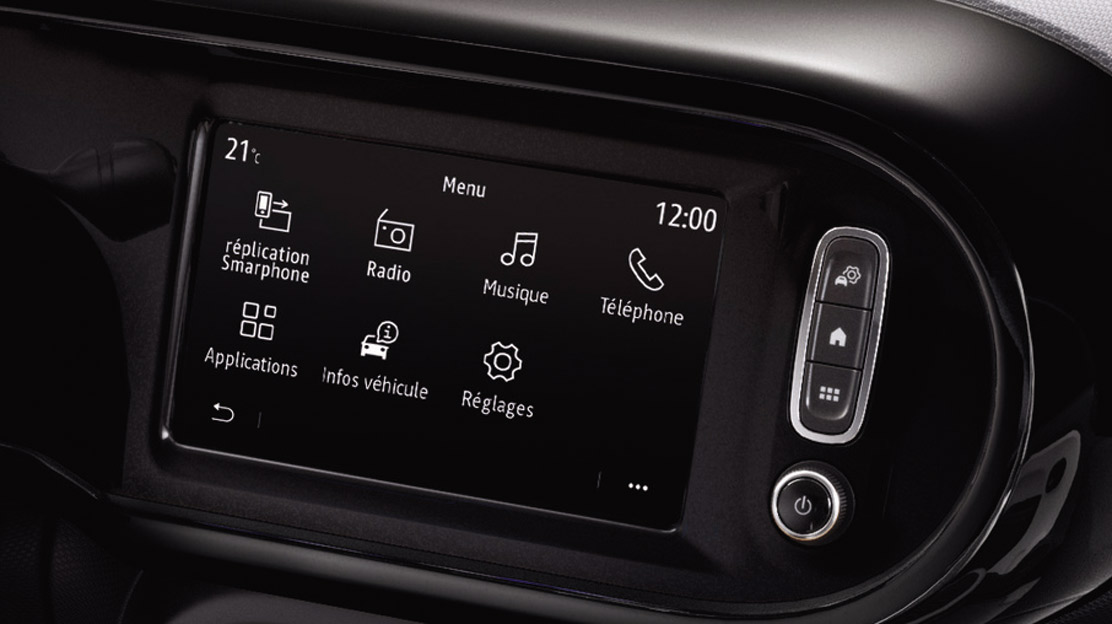 "Renault EASY LINK multimediasysteem met 7"" touchscreen en digitale radio DAB+"