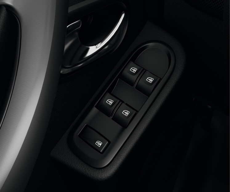 Electric front windows with drivers one-touch