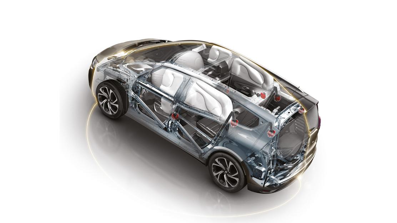 Airbags dianteiros de condutor e passageiro adaptativos