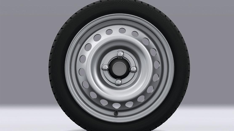 Reserverad (begrenzt auf 80 km/h) - Entfall Reifenreparaturset)