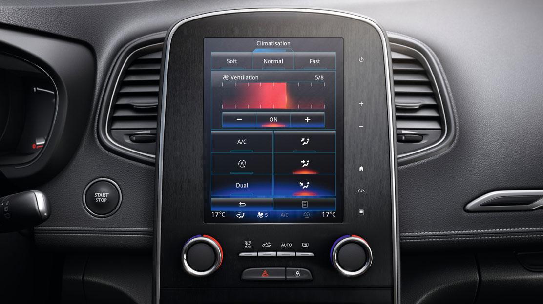 Elektronisch geregelde airconditioning met 2 klimaatzones en luchtkwaliteitsensor