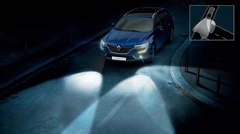 Projectores dianteiros Full LED c/assist. à iluminação em curva