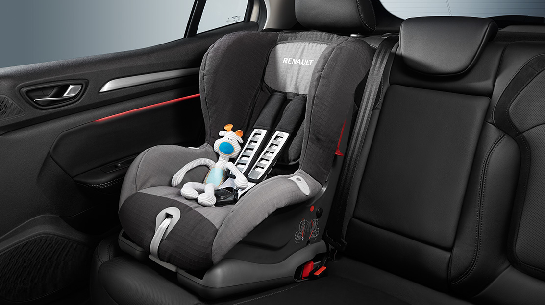 ISOFIX points on three second row seats