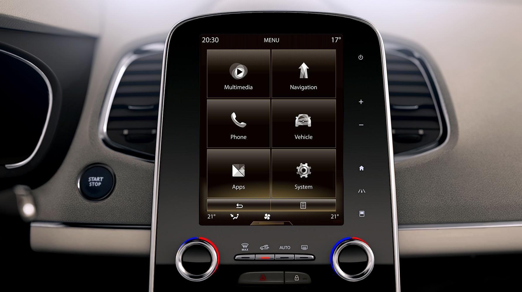 Renault R-Link 2 multimedia- en navigatiesysteem met auditorium