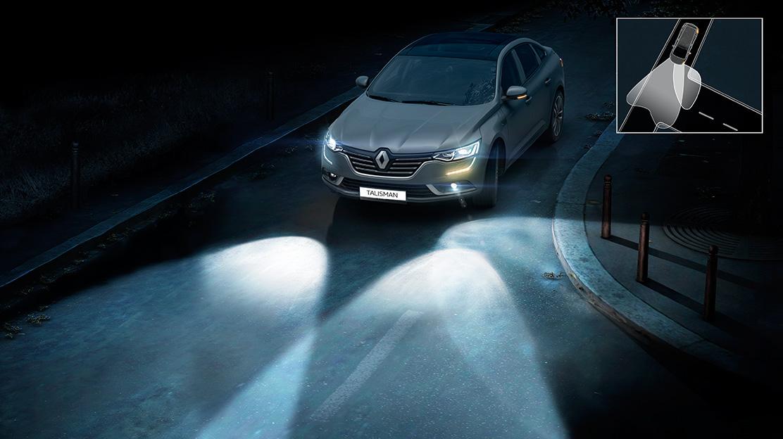 Projectores dianteiros Full LED com assistência à iluminação em curva