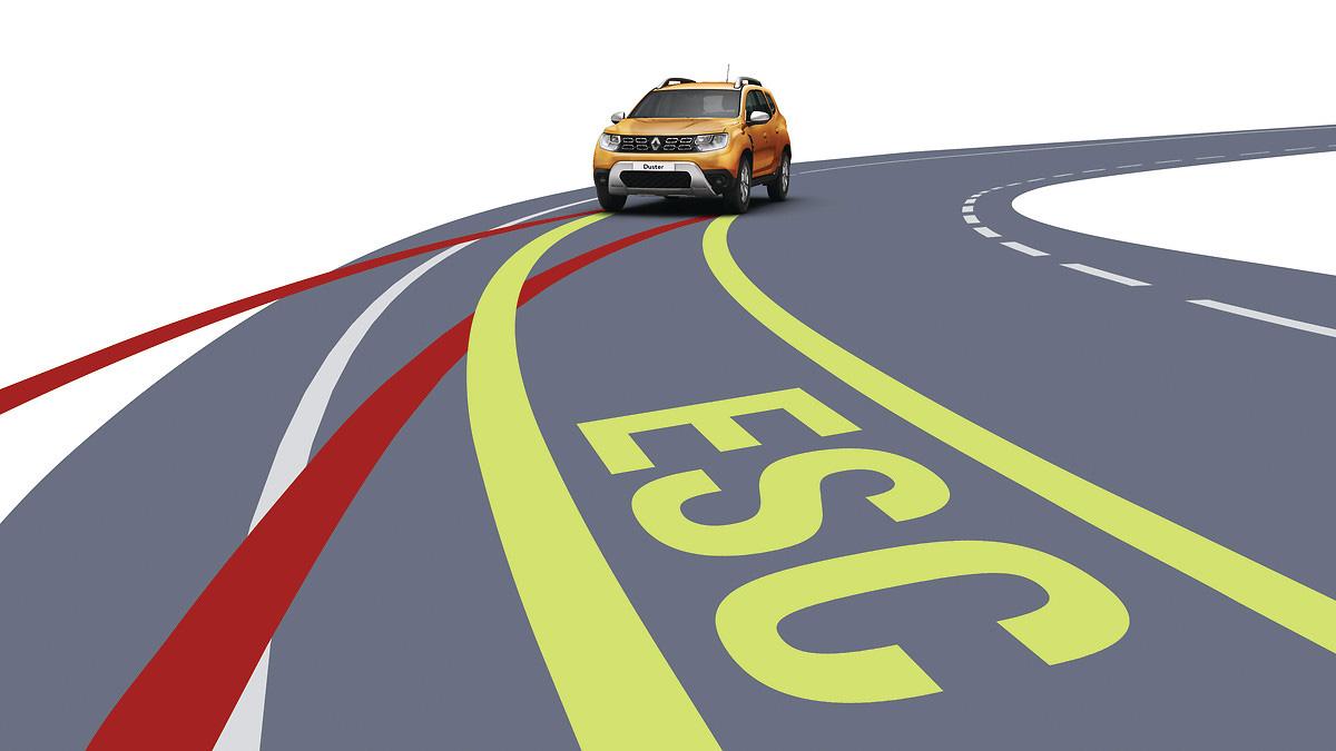 ESC(с-ма курсової стійкості)+HSA(допомога при старті на підйомі)+HDC(контроль руху при спуску)