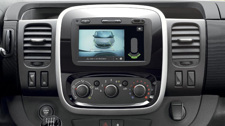 Aide au stationnement arrière + caméra de recul (sur écran avec Média-Nav et R-Link )
