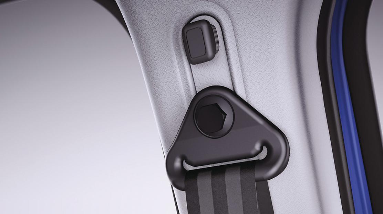 Ceinture de sécurité conducteur réglable en hauteur