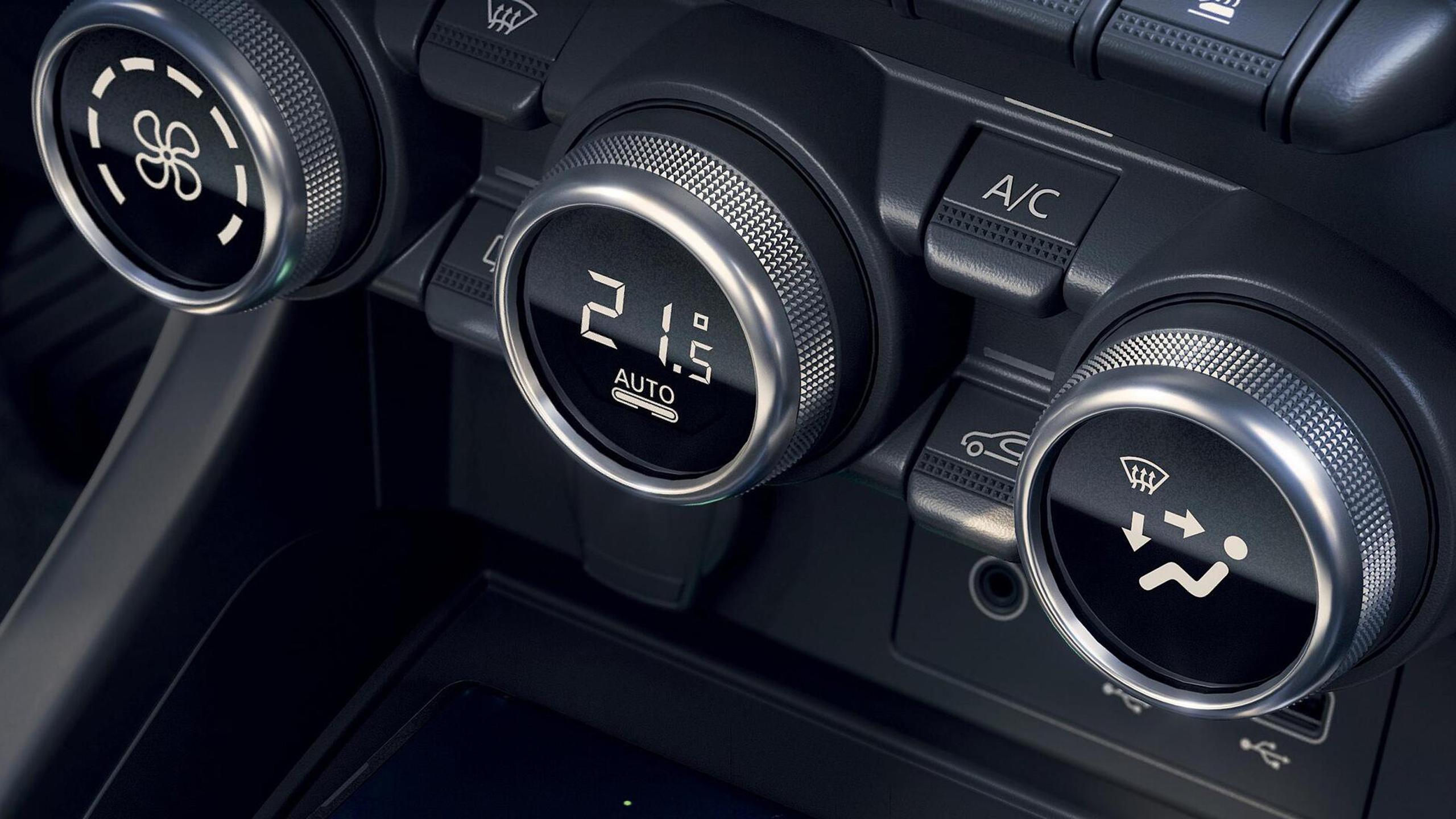 Elektronisch geregelde airconditioning met 1 klimaatzone en luchtkwaliteitsensor