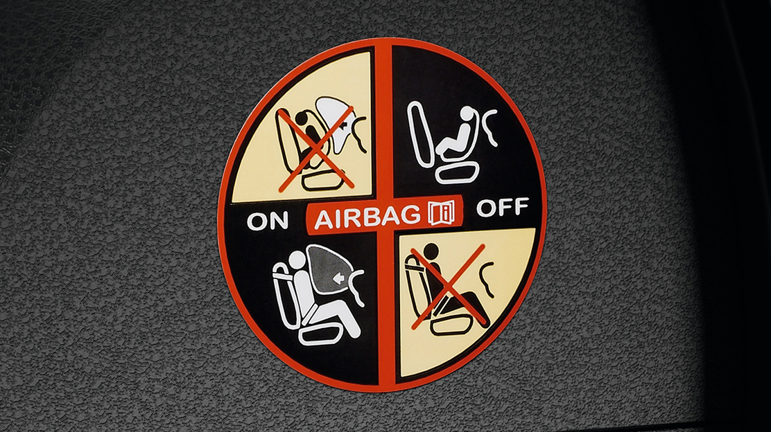 Airbag frontal passager désactivable