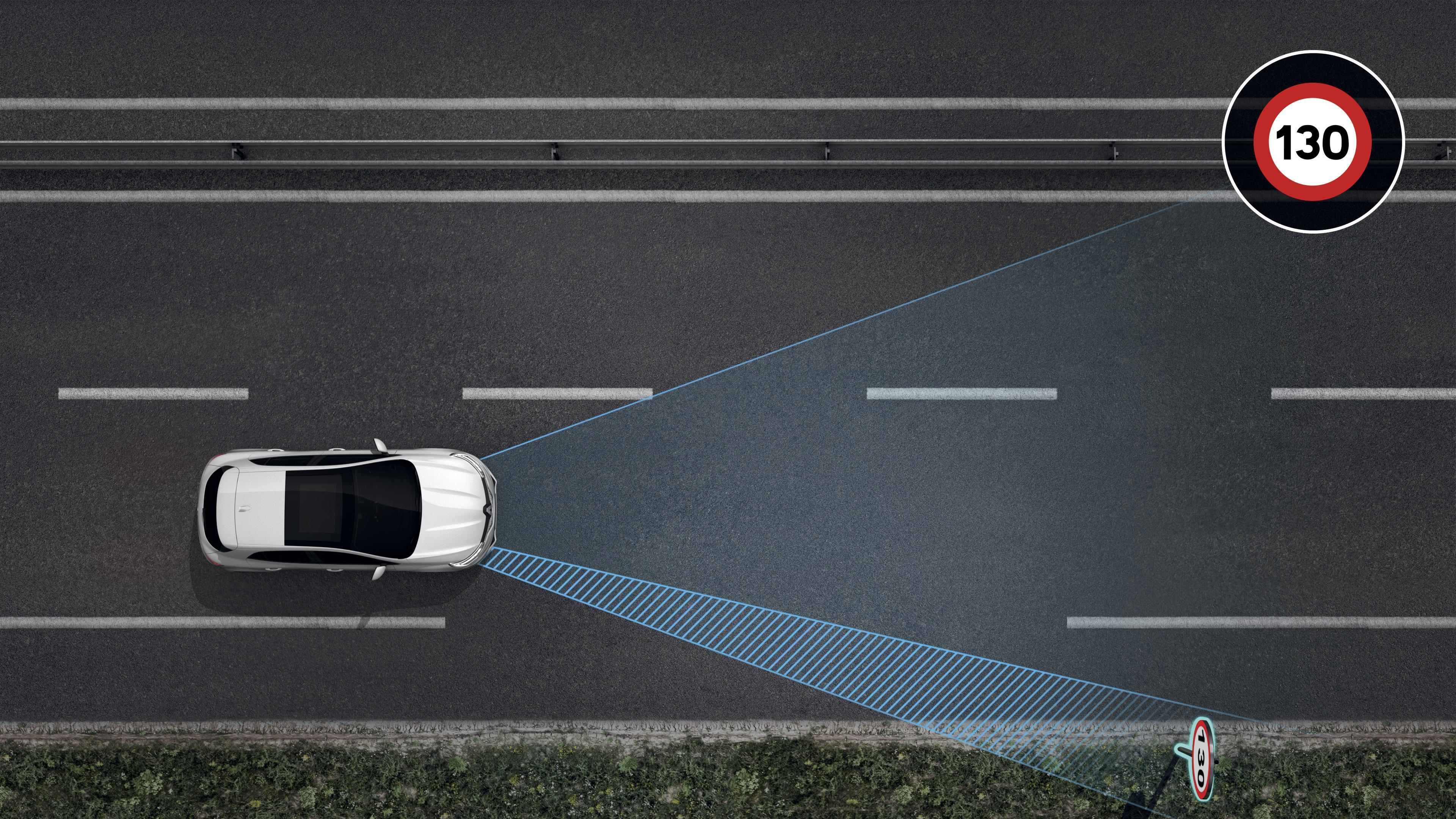 system ostrzegania o nadmiernej prędkości, z funkcją rozpoznawania znaków drogowych