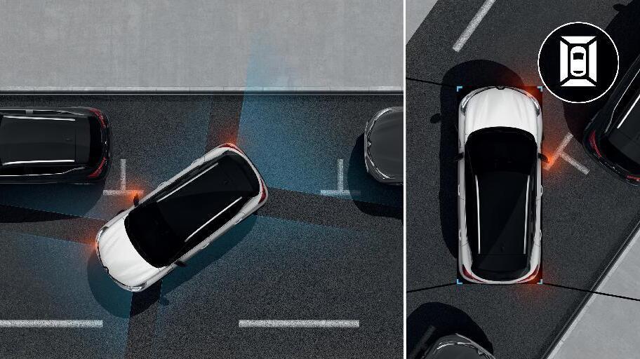 Ayudas al aparcamiento delantero y trasero con Easy Park Assist