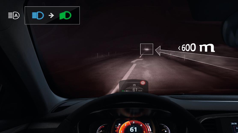 Cambio automático de las luces de carretera/cruce