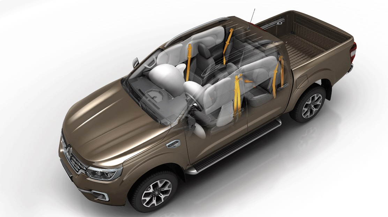 Zijdelingse airbags voor- en achteraan + gordijnairgbags