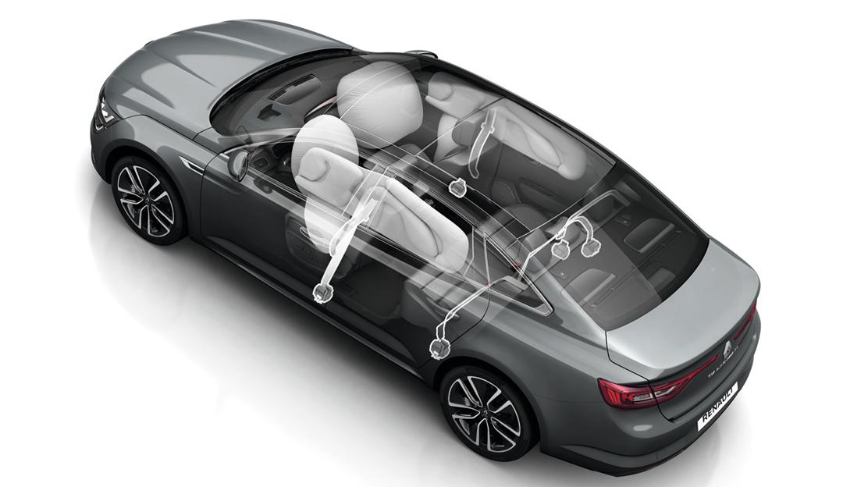 Seitenairbags Kopf Fahrer und Beifahrerseite