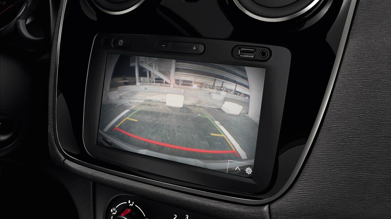 Sistema de ajuda ao estacionamento traseiro com câmara de marcha-atrás - implica Media Nav