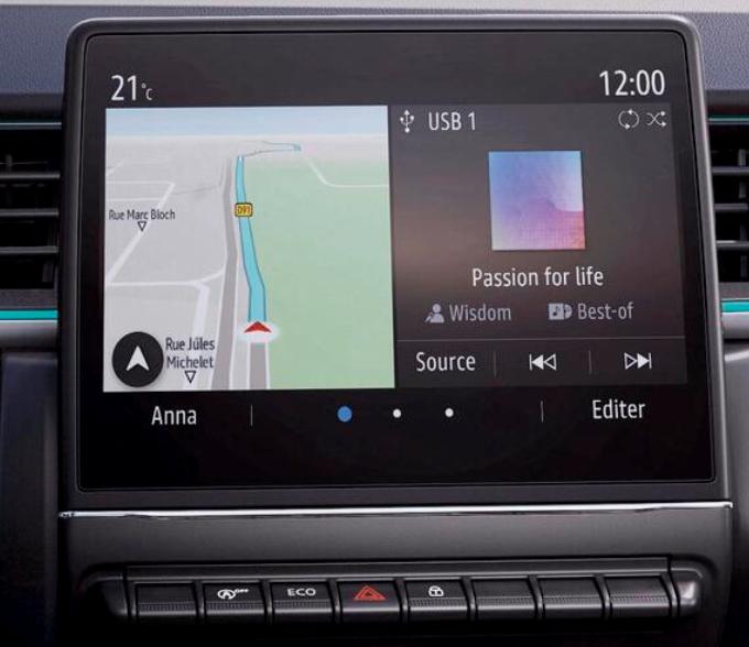 Integriertes Multimediasystem mit 7-Zoll Touchscreen