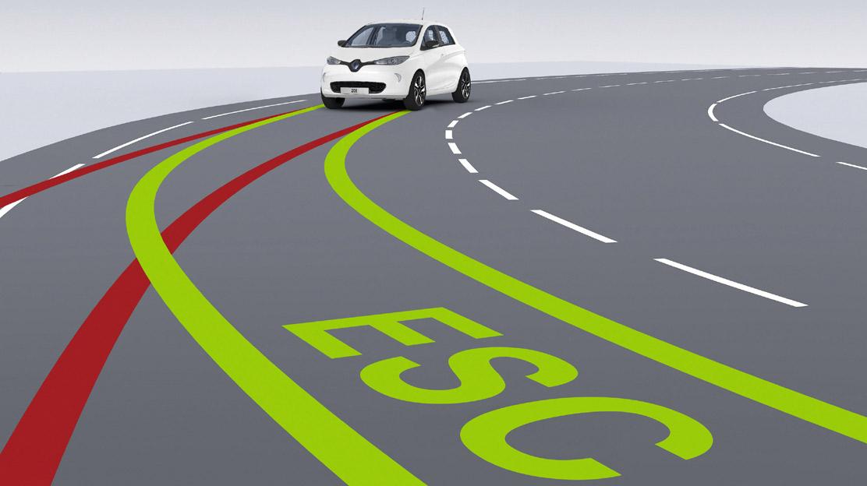 Elektronisch Stabiliteit Controle (ESC) met tractiecontrole (ASR)