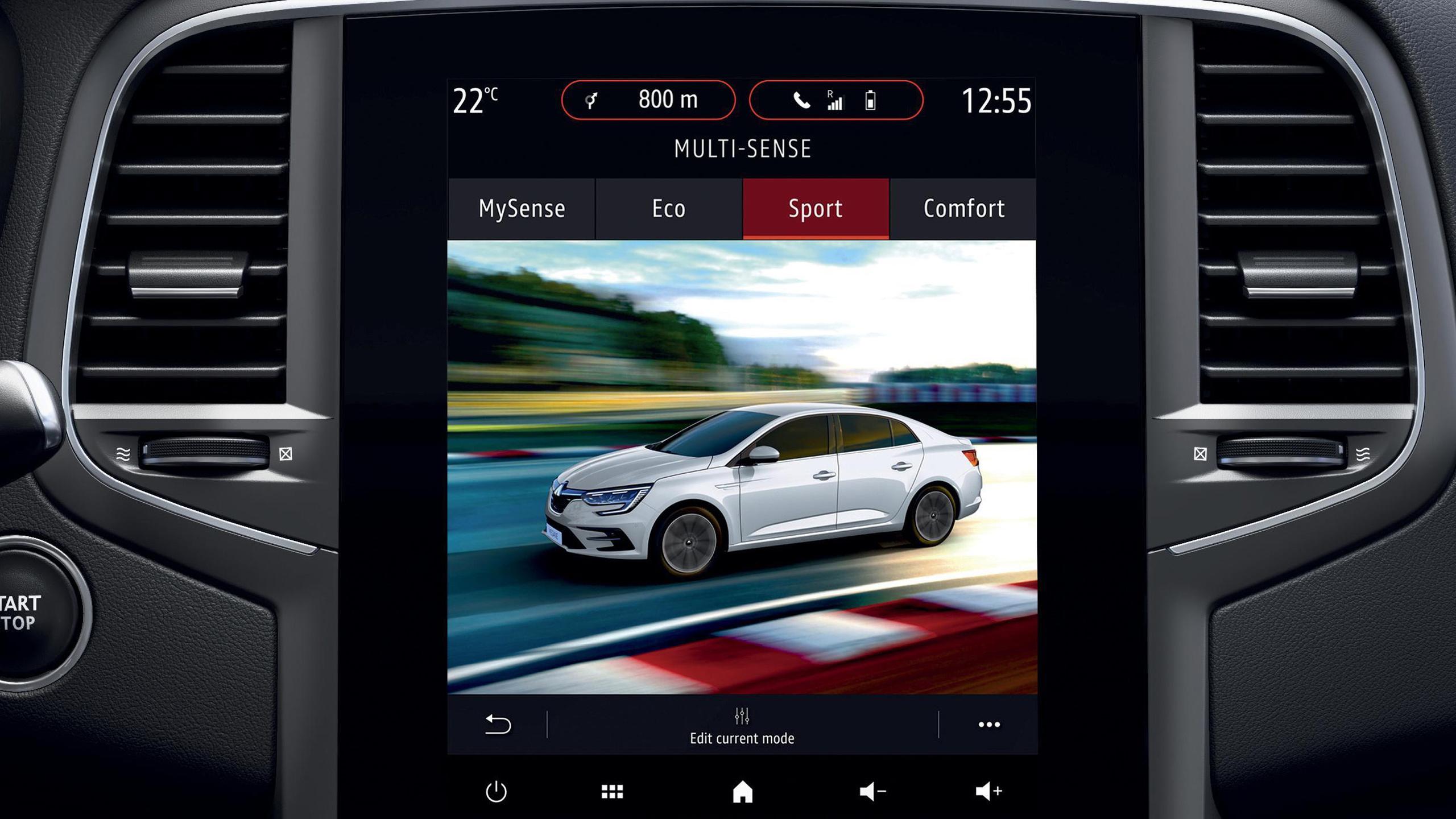 Renault Multi-Sense (вибір режимів водіння, освітлення бортового комп'ютера, салону)