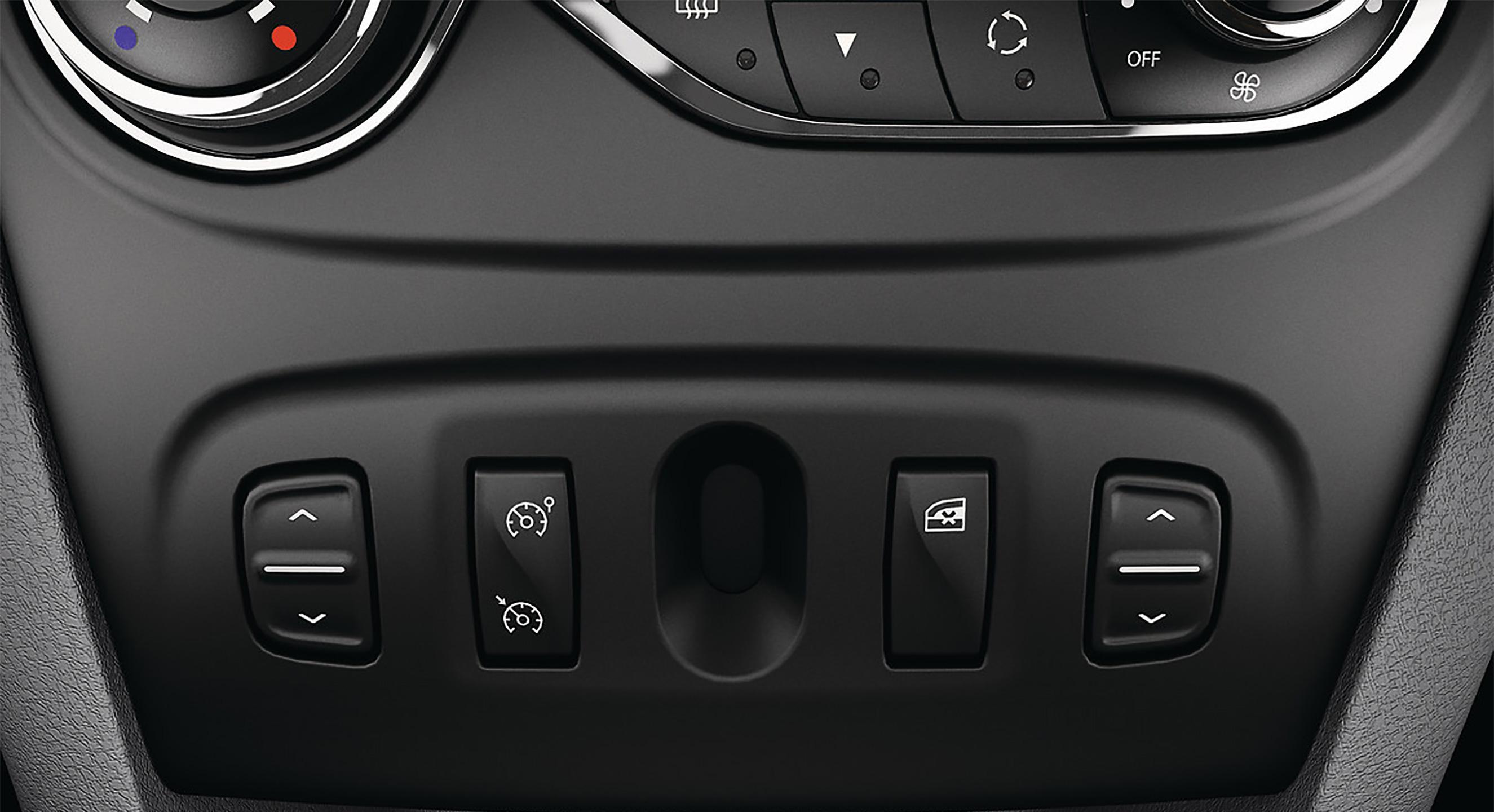 Lève-vitre avant et arrière électrique avec impulsion et anti-pincement cote conducteur
