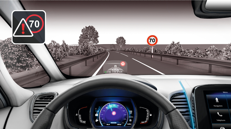 Verkeersbordherkenning met snelheidsalarm