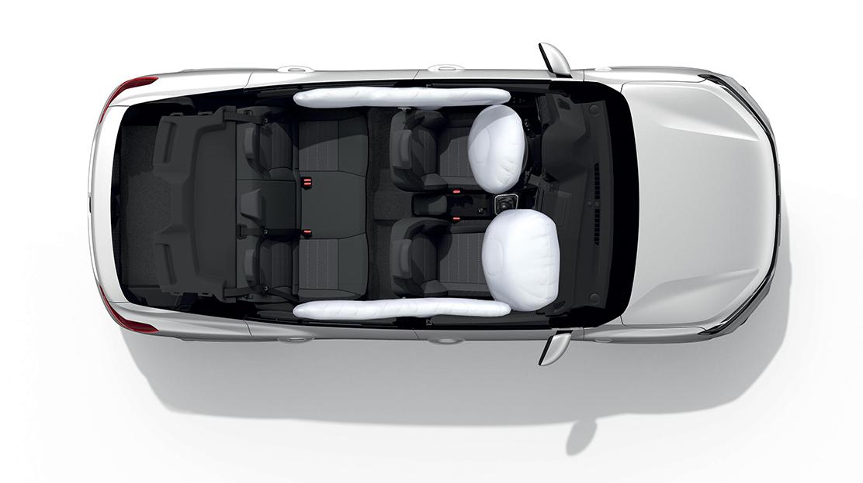 Airbags laterales delanteros y cortina