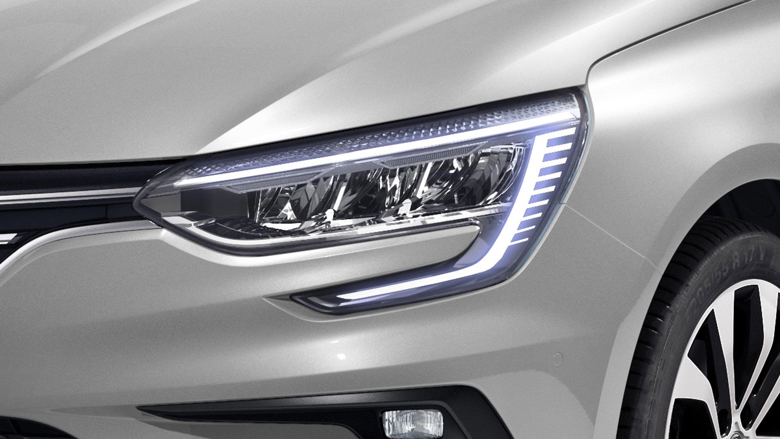 Luces de día LED  -  Forma de C con intermitentes integrados