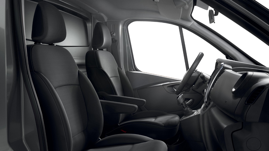 Passenger seat - height and lumbar adjustable with armrest