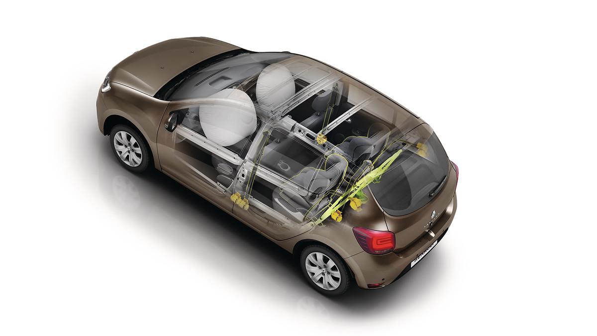 Передні подушки безпеки водія та переднього пасажира (з кнопкою вимкнення) та задні підголівники