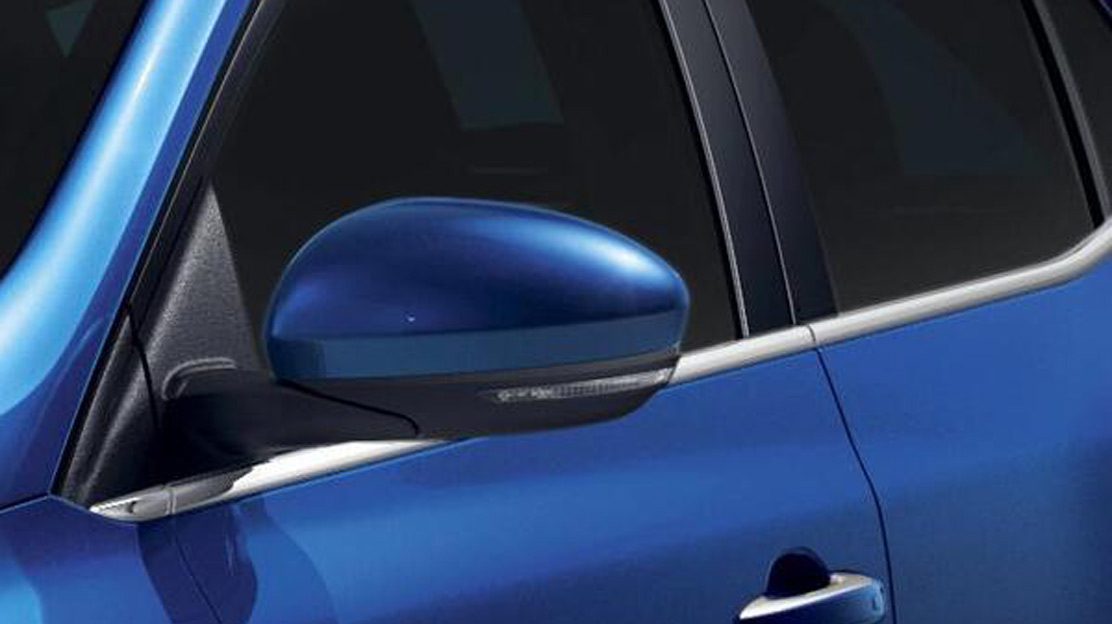 Electrically adjustable, folding and heated door mirrors with puddle light