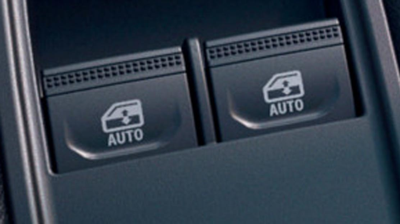 Elektrisch bedienbare portierruiten vóór met sneltoets