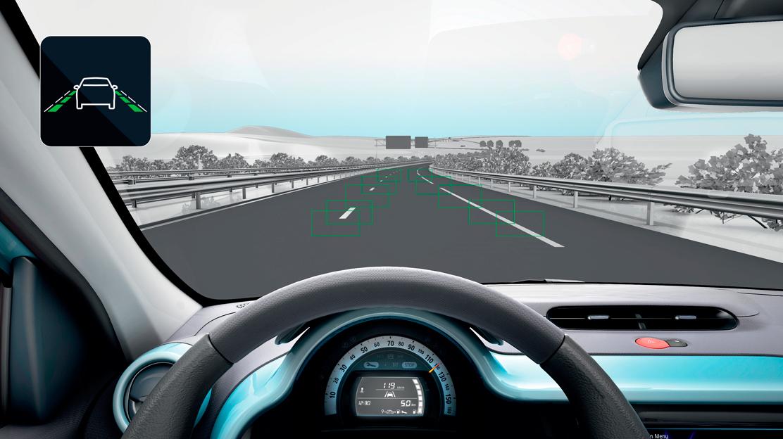 Regulador / Limitador de velocidad y  Alerta por cambio involuntario de carril (LDW)
