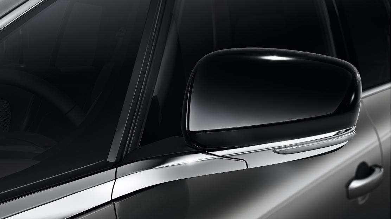 Elektrisch verstelbare, verwarmbare en inklapbare buitenspiegels met geïntegreerd kn