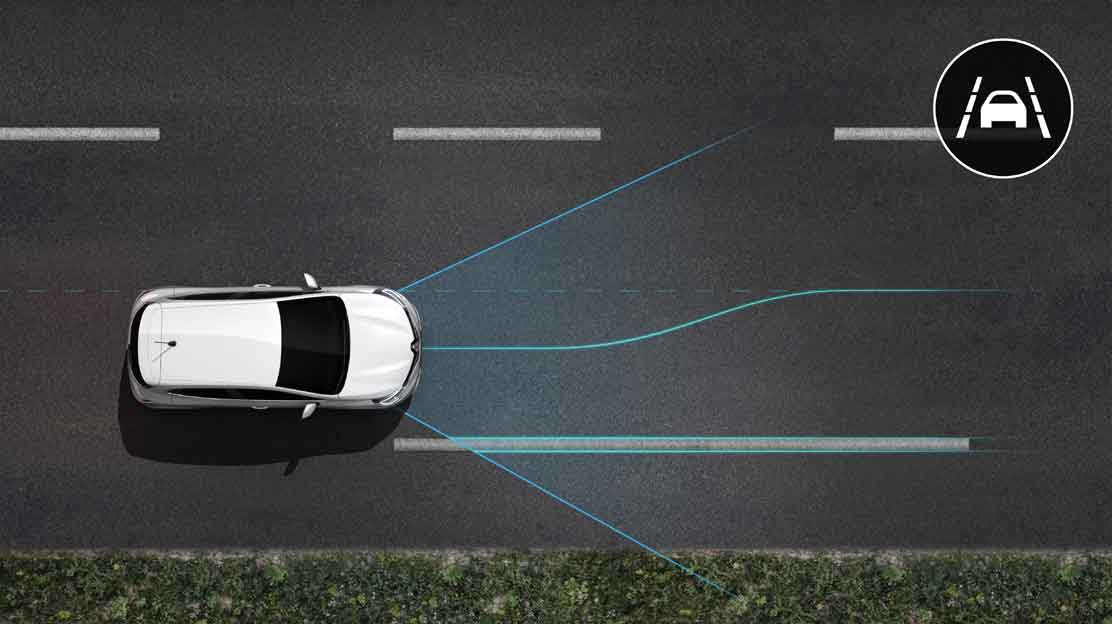 Lane Departure Warning met Lane Keep Assist