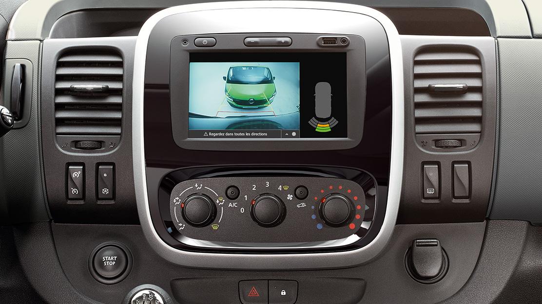 Sist. de ajuda estacion. diant.e tras.c/câmara-Implica Sensores chuva+FN(Combis);Pack Hi-Tech2(BUS)