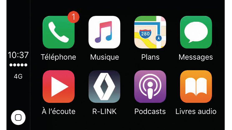 Compatible con Apple CarPlay™ y Android Auto™ para usar las aplicaciones del smartphone de forma segura